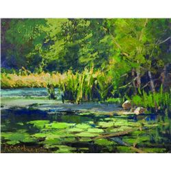 """Morning Light - Water Lilies"" by Kim Casebeer"