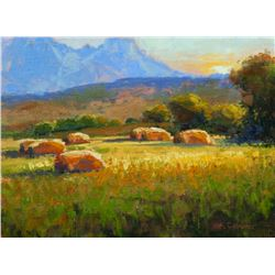 """Hay Field at Dawn"" by Kim Casebeer"