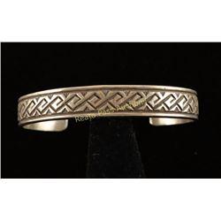Sterling geometric Cuff Bracelet