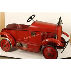 Original Pierce Antique Fire Chief Pedal Car