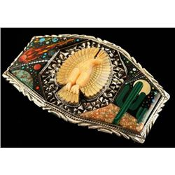 Magnificent Custom Sterling Inlaid Buckle