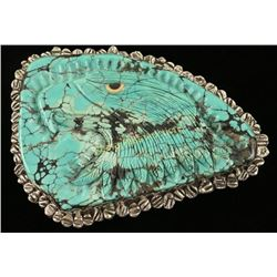 Beautiful Gigantic Turquoise Belt Buckle