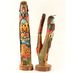 Lot of Two High Quality Kachinas