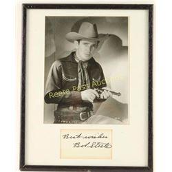 Black & White Photo of Bob Steele