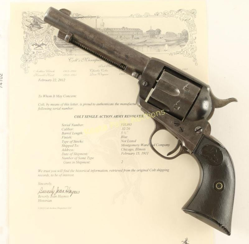 Colt Single Action Army  32 WCF SN: 316383