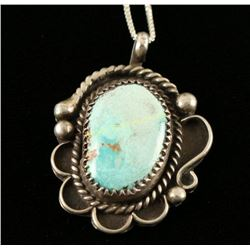 Traditional Navajo Turquoise Pendant