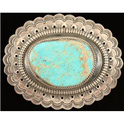 Massive Navajo Turquoise & Sterling Buckle