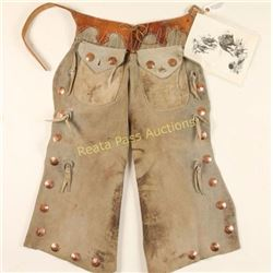 Pair of Copper Studded Batwing Chaps