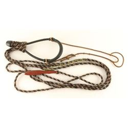 Rawhide Bozel and Horsehair Rope