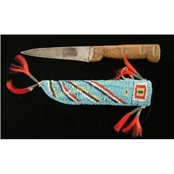 Sioux Beaded Knife and sheath