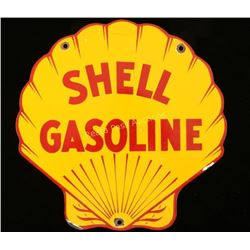 Antique Shell Gasoline Porcelain Sign
