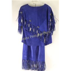Beautiful Blue Suede Western Outfit