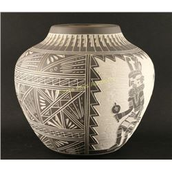 Acoma Incised Carved Pot