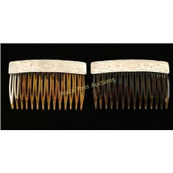 Pair of Navajo Hair Combs