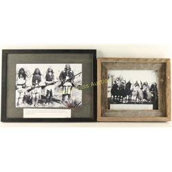 Framed photos of Warriors & Tribal Leaders