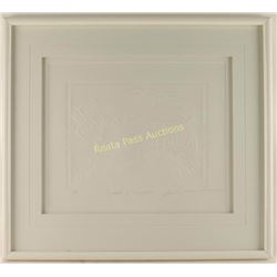 Embossed White on White Paper Art