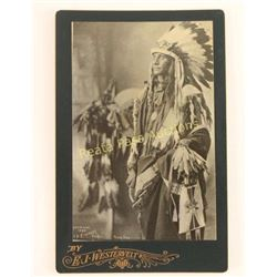 Old West Indian Chief Cabinet Card Photo