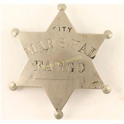 Old West N. Dakota City Marshall Badge