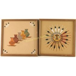 Collection of 2 Sand Paintings