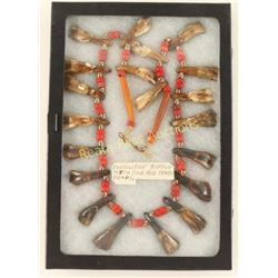 Fossilized Buffalo Teeth Necklace