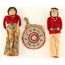 Indian Purse & Dolls