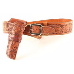 Texas Rangers Tooled Leather Holster Rig