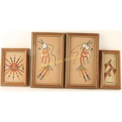 Collection of 4 Small Sand Paintings