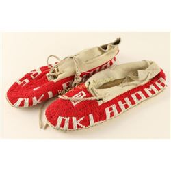 Oklahoma Sooners Beaded Moccasins