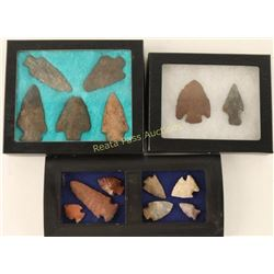 Lot of 3 Arrowhead Displays