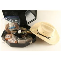 Cowboy Hat Carrying Case & Larry Mayhan's Hat