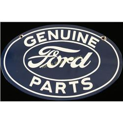 Vintage Genuine Ford Parts Porcelain Sign