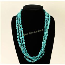 Navajo 3 Strand Turquoise Necklace
