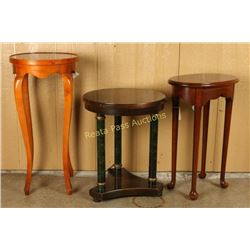 Lot of 3 Small Side Tables