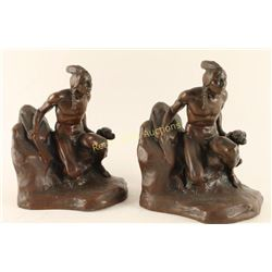 C. Vieth Indian Hunter Bookends