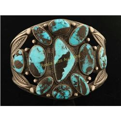 Pre 1940's Turquoise Cluster Bracelet