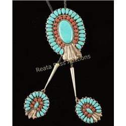 Coral & Turquoise Bolo