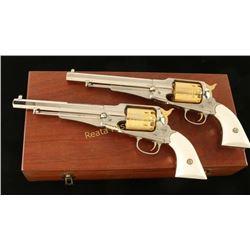 Cased Engraved Set of 1858 Remington Armies