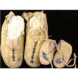 Collection of 2 Plains Indian Moccasins