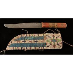 Trade Knife & Sioux Scabbard