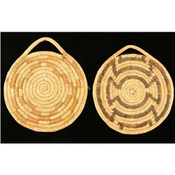 Lot of 2 Papago Basketry Trays
