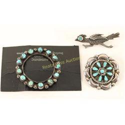 Collection of 3 Navajo Pins