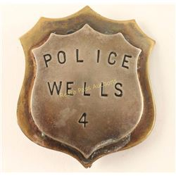 Old West Police Wells Badge