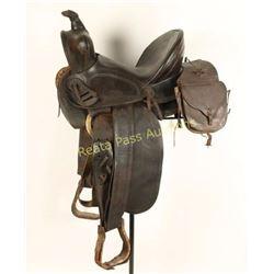 Antique Collins & Morrison High Backed Saddle