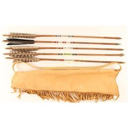 Native American Quiver with Arrows
