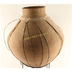 Large Pot with Hide Accents