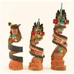 Lot of 3 Kachina Dolls