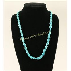 Single Strand Sleeping Beauty Turquoise Necklace