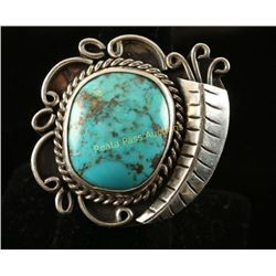 Large Turquoise & Sterling Navajo Ring