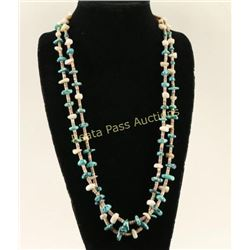 Native American Lone Mountain Turquoise Necklace