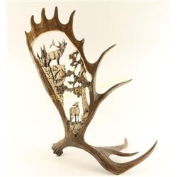 Beautiful Faux Moose Antler Decorator